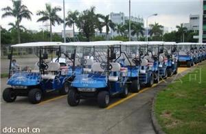 广东东之尼8人座蓝色款电动高尔夫车