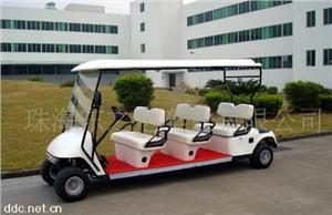 珠海东之尼6人座白色电动观光游览车