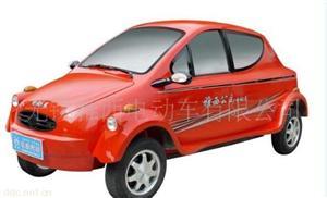雅西红色款轻型迷你电动汽车