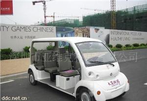 亚维克8座白色时尚电动观光车