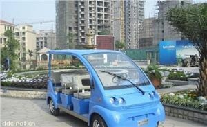 亚维克8座蓝色豪华电动观光车