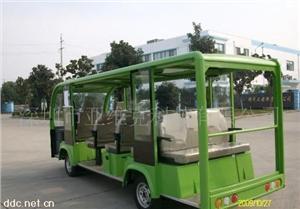 深圳亚维克绿色14座电动观光车