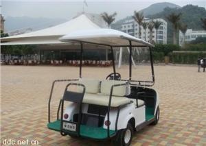 亚维克白色款2座电动高尔夫球车