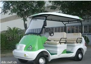 简约款4座绿色电动观光车