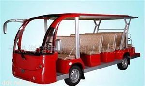 益高14座红色电动观光车