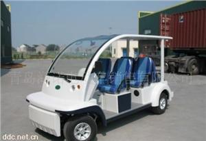益高白色6座电动观光游览车