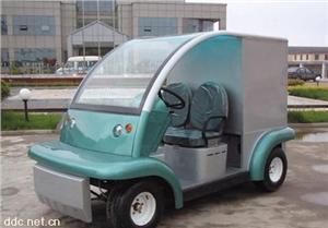 益高绿色小型电动送餐车
