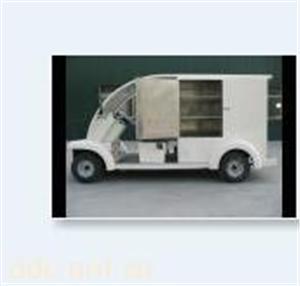 益高白色2座电动送餐车