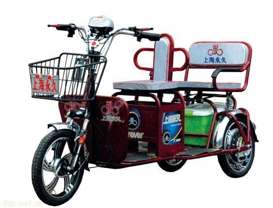 上海永久350w差速载人客运电动三轮车