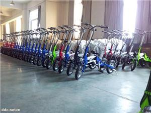 厂家直销一秒折叠电动自行车