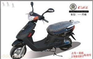 上海君都500W巧格黑色电动摩托车