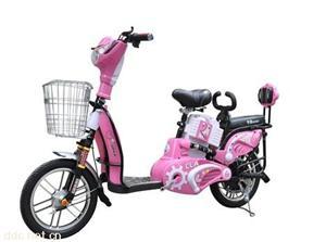 常州350W48v粉色骏捷简易电动自行车