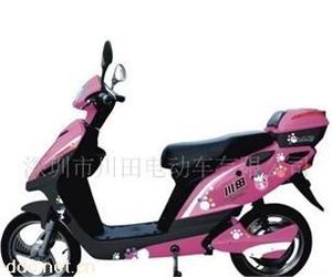 豪奇特粉色风雅电动摩托车