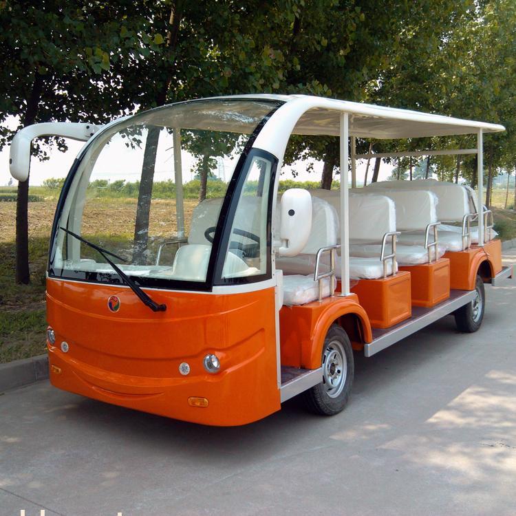 太阳能电动观光车,电动观光游览车,电动看房车高清图片