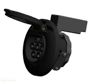 IEC充电接口连接器\欧标电动汽车充电插头、充电插座