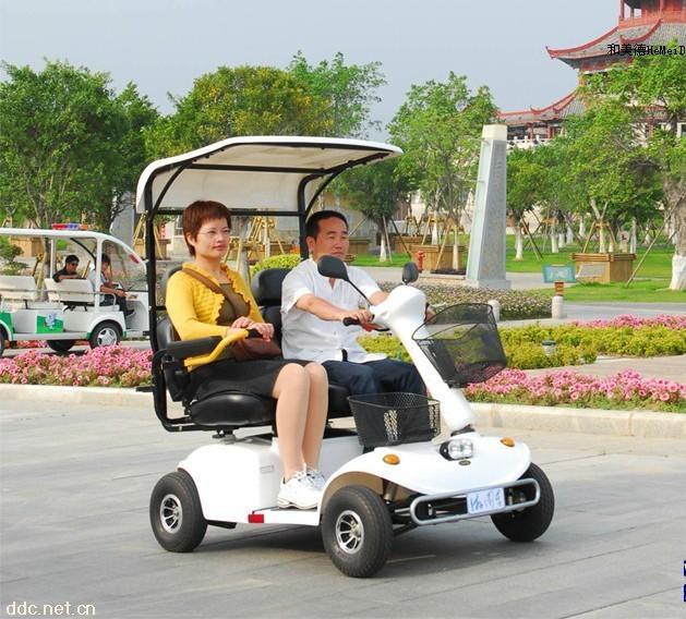 并排双人座老年电动代步车
