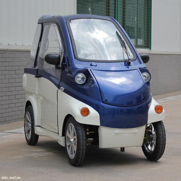 乐途超微型四轮电动代步车蓝封闭款