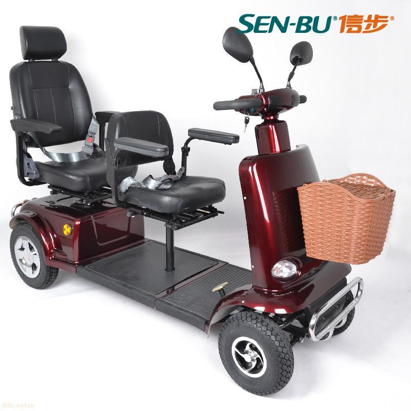 信步前后双人座老年代步车-徐州美世通电动车有限