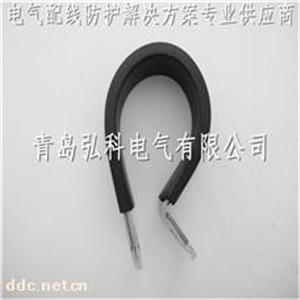 青岛弘科R型管卡,金属管夹