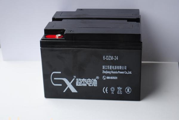 超杰6-DZM-24电动车专用铅酸蓄电池