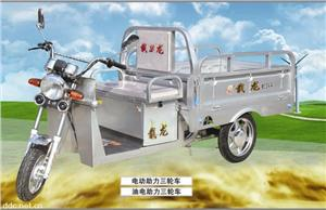 载龙电动助力三轮车,电动货运三轮车