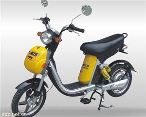 安骑三号黄色电动摩托车
