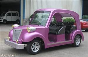 粉紫色6座豪华电动老爷车