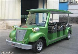 飞豹绿色12座电动老爷车