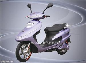 48V350W紫色款小中鲨电动摩托车