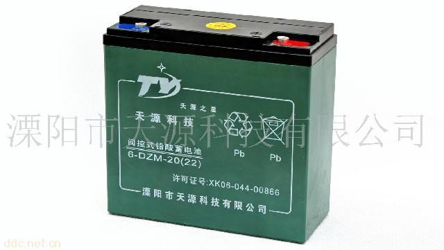 """""""天源之星""""6-DZM-20电动车蓄电池"""