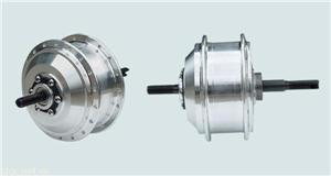锂电池电动车用无刷有齿后驱碟刹外变速小高速辐条电机