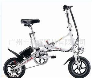 广东骏骥12寸新骑士轻便折叠电动自行车