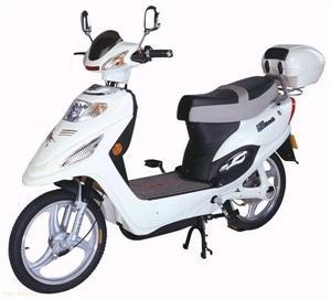 麦科特霸王2代白色电动摩托车