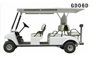 阿帕奇6座白色电动高尔夫球车