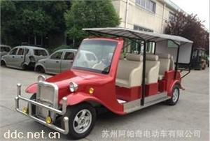 阿帕奇8座红色景区豪华电动老爷车