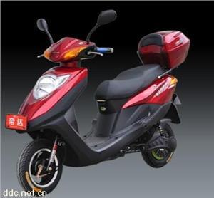 帝达红色豪华佳乐电动摩托车