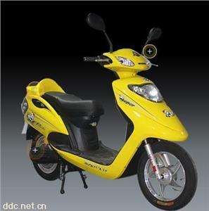 帝达黄色48V熊猫电动摩托车