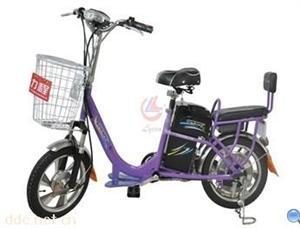 广州36V花蝶紫色简易电动自行车TDR-1613Z