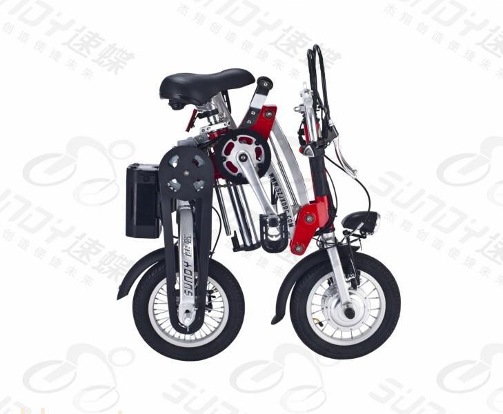 速蝶折叠电动自行车