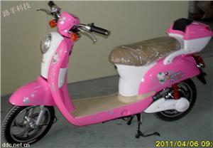 粉色迷你款电动摩托车