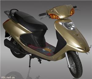 48V小公主红色电动摩托车