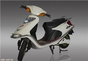 路羊银色48V刀锋电动摩托车