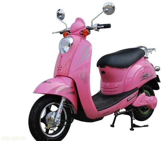 深圳大龟王粉色款豪华电动摩托车