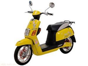 48V酷酷黄色时尚豪华款电动摩托车