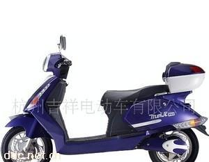 350W16寸蓝色美吉电动摩托车