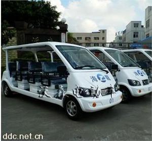 沃森8座白色电动观光旅游车