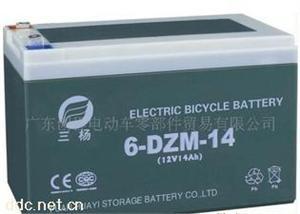 供应高性能12V14AH电动车铅酸蓄电池
