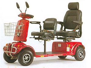 双人双排双座老年人代步车