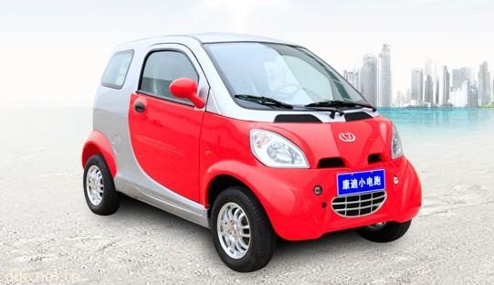 电动汽车资讯网_康迪红色小电跑电动汽车