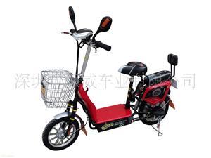 深威16寸350W红色小QQ电动自行车